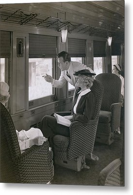First Class Passengers In An Metal Print by Everett