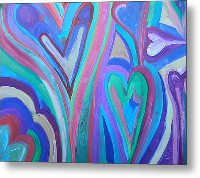 First Hearts Metal Print