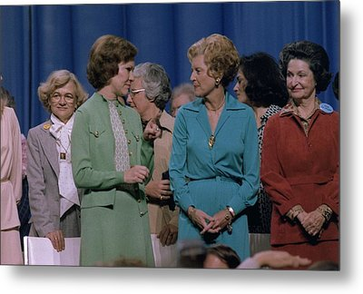 First Ladies Rosalynn Carter With Betty Metal Print by Everett