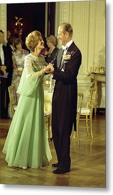 First Lady Betty Ford And Prince Philip Metal Print by Everett