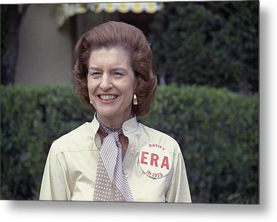 First Lady Betty Ford Sports A Button Metal Print