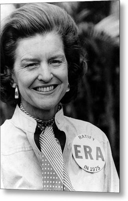 First Lady Betty Ford Wears A Badge Metal Print by Everett
