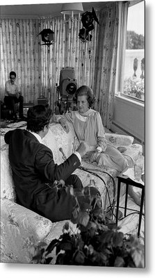 First Lady Betty Fords Interview Metal Print by Everett