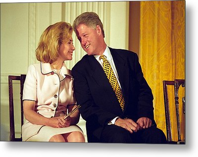First Lady Hillary Clinton Metal Print by Everett
