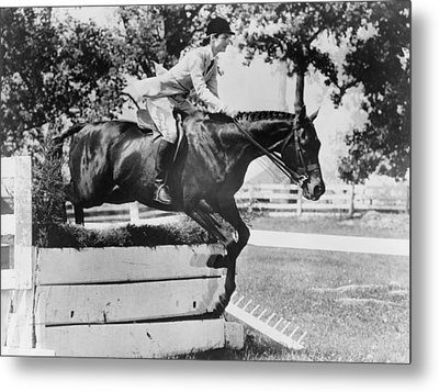 First Lady Jacqueline Kennedy, Riding Metal Print