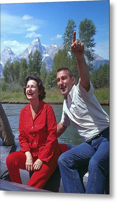 First Lady, Lady Bird Johnson, Rafting Metal Print by Everett