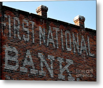 First National Bank Metal Print by Tanya  Searcy