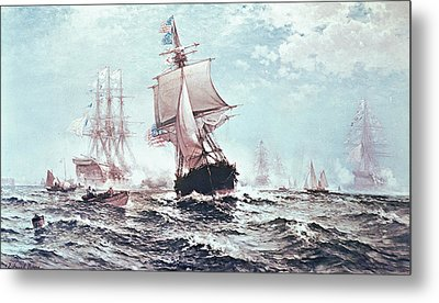 First Recognition Of The Stars And Stripes Metal Print by Edward Moran