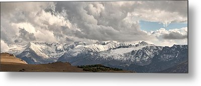 First Snow 2012 Rocky Mountains Metal Print by Larry Darnell