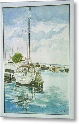 Fish Creek Harbor Metal Print by Laurel Fredericks