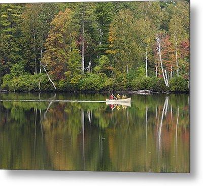 Fish Creek Pond In Adirondack Park - New York Metal Print by Brendan Reals