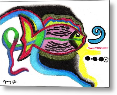 Fish Design 2 Metal Print by Christine Perry