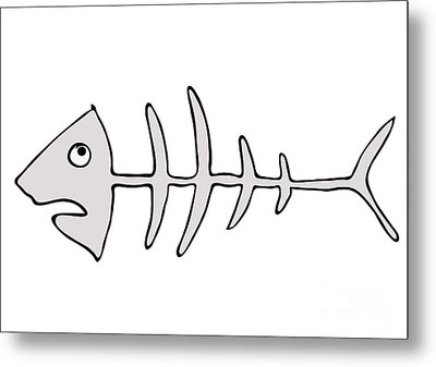 Fish Skeleton - Fishbones Metal Print by Michal Boubin