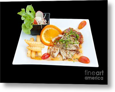 Fish Steak Metal Print