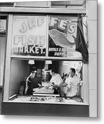 Fish Store In The Lower East Side Metal Print by Everett