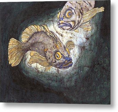 Fish Tales Metal Print by Shari Carlson