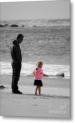 Metal Print featuring the photograph Fish With Me Daddy by Terri Waters