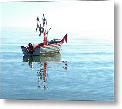 Fisher-boat In Baltic Sea Metal Print by Km-foto