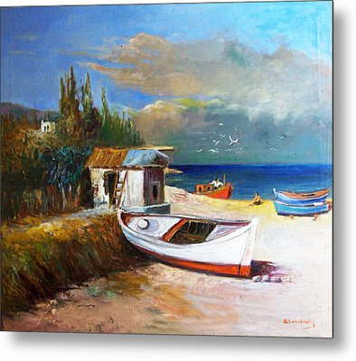 Fisherman's Cottage Metal Print