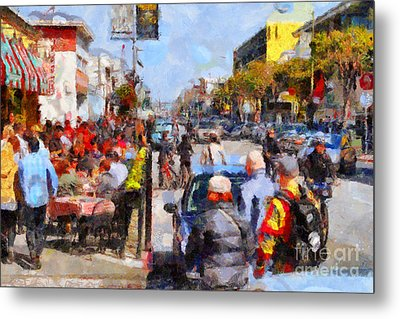 Fishermans Wharf San Francisco California . Painterly . 7d14485 Metal Print by Wingsdomain Art and Photography
