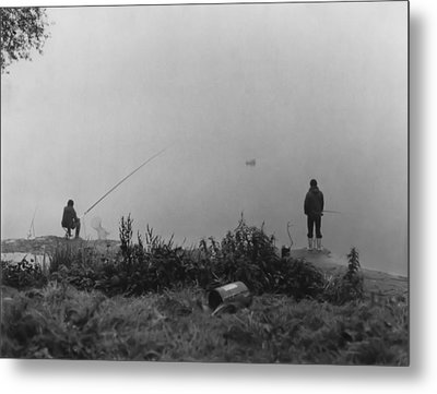 Fishin On The Rhine Metal Print