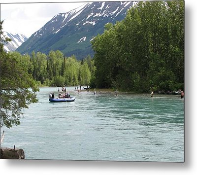 Fishing And Rafting  Metal Print