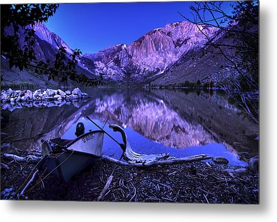 Fishing At Convict Lake Metal Print by Sean Foster