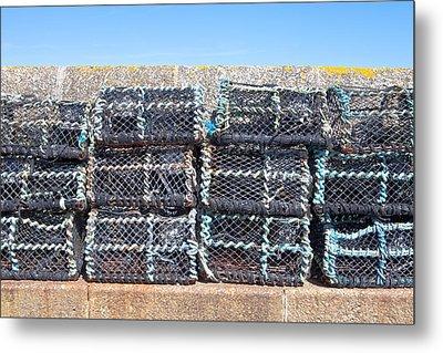 Fishing Baskets Metal Print