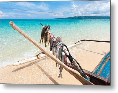 Fishing Boat Metal Print by Hans Engbers