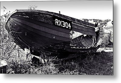 Fishing Boat Wreck Metal Print by Sharon Lisa Clarke