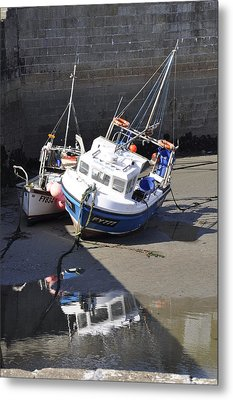 Fishing Boats Metal Print by Charlotte May-Photography