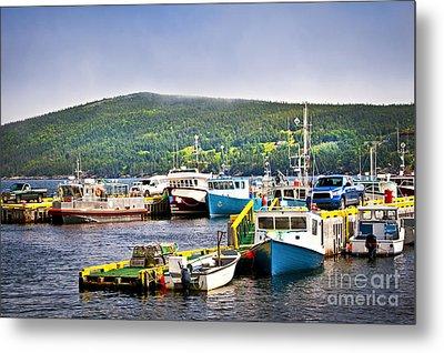 Fishing Boats In Newfoundland Metal Print by Elena Elisseeva