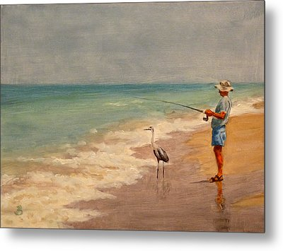 Fishing Friends Metal Print