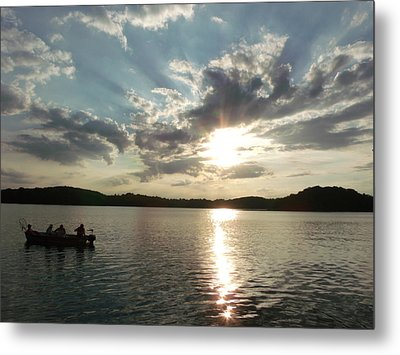 Fishing In Heaven Metal Print by Brian  Maloney