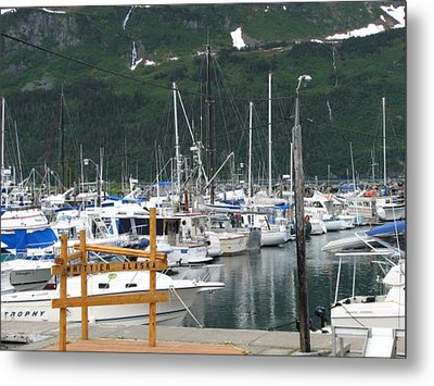 Fishing In Whittier Metal Print