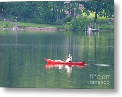 Metal Print featuring the photograph Fishing by Louise Peardon