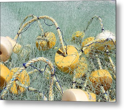 Fishing Nets And Weights Metal Print