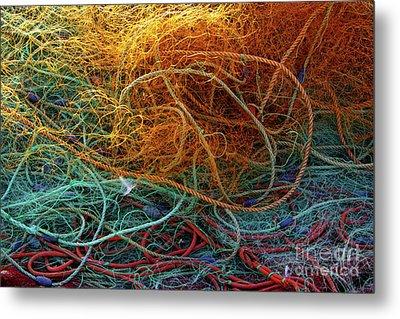 Fishing Nets Metal Print by Carlos Caetano