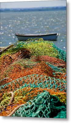 Metal Print featuring the photograph Fishing Nets by Trevor Chriss