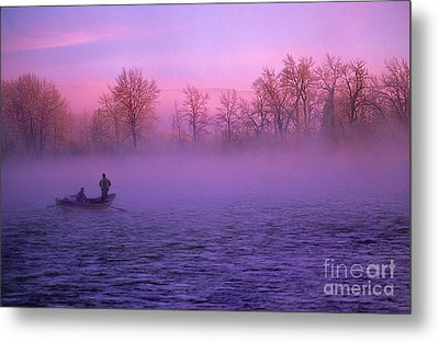 Fishing On The Bow Metal Print by Bob Christopher