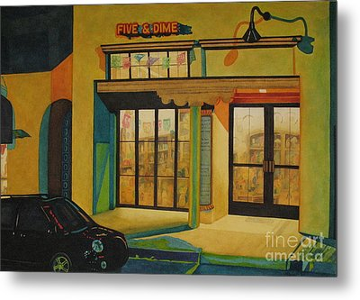 Five And Dime Metal Print by Vikki Wicks