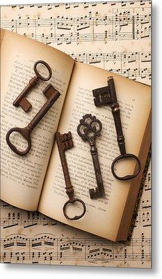 Five Old Keys Metal Print by Garry Gay