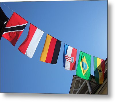 Flags Of Different Countries Metal Print by Matthias Hauser