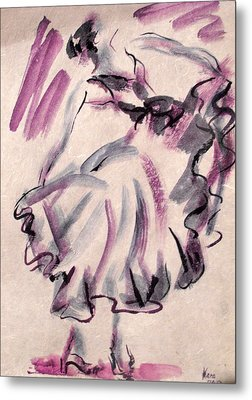 Flamenco Dancer 12 Metal Print