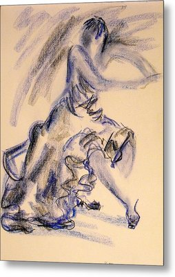 Flamenco Dancer 3 Metal Print by Koro Arandia