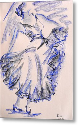 Flamenco Dancer 8 Metal Print