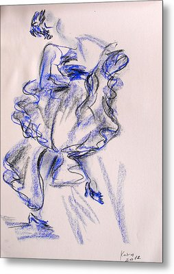 Flamenco Dancer 9 Metal Print