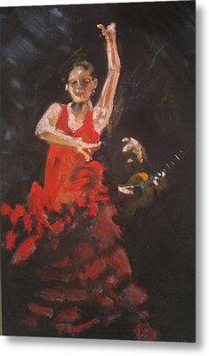 Flamenco Dancer Metal Print by Paul Mitchell