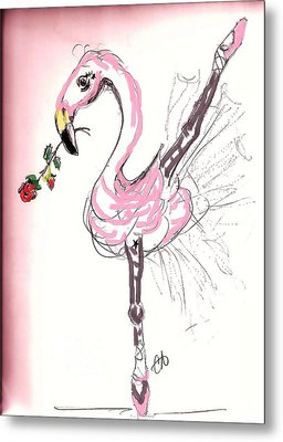 Flamenco Flamingo Metal Print by Carol Allen Anfinsen