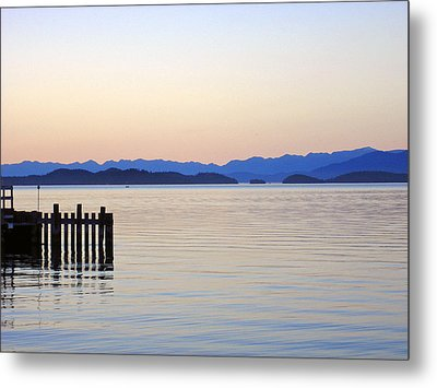 Flathead Lake At Dusk Metal Print